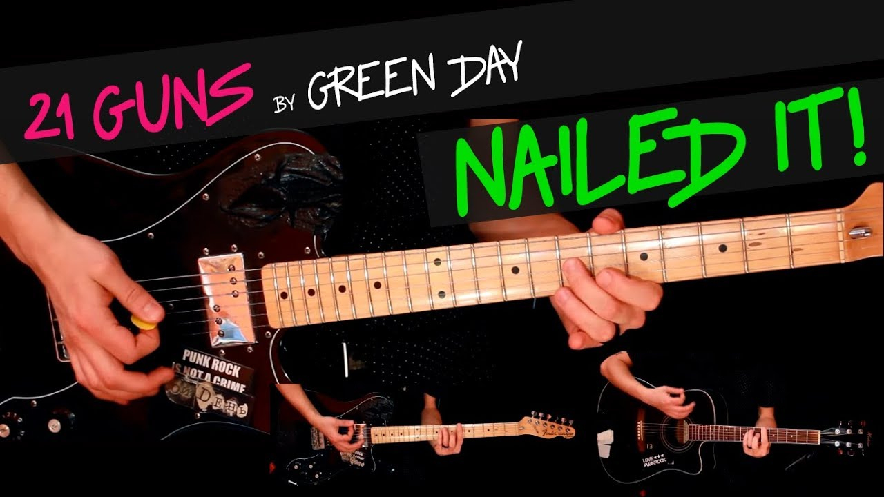 21 Guns Chords 21 Guns Green Day Guitar Cover Gv Chords