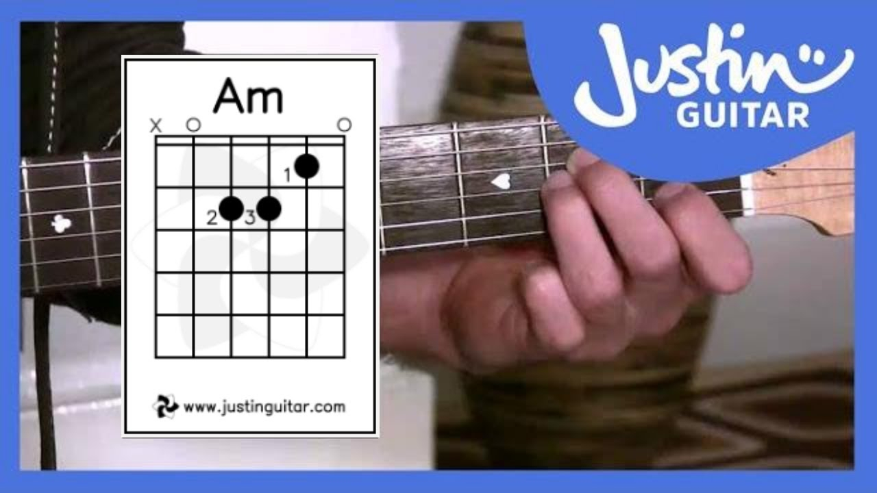 A Chord Guitar The Amin Chord Justinguitar