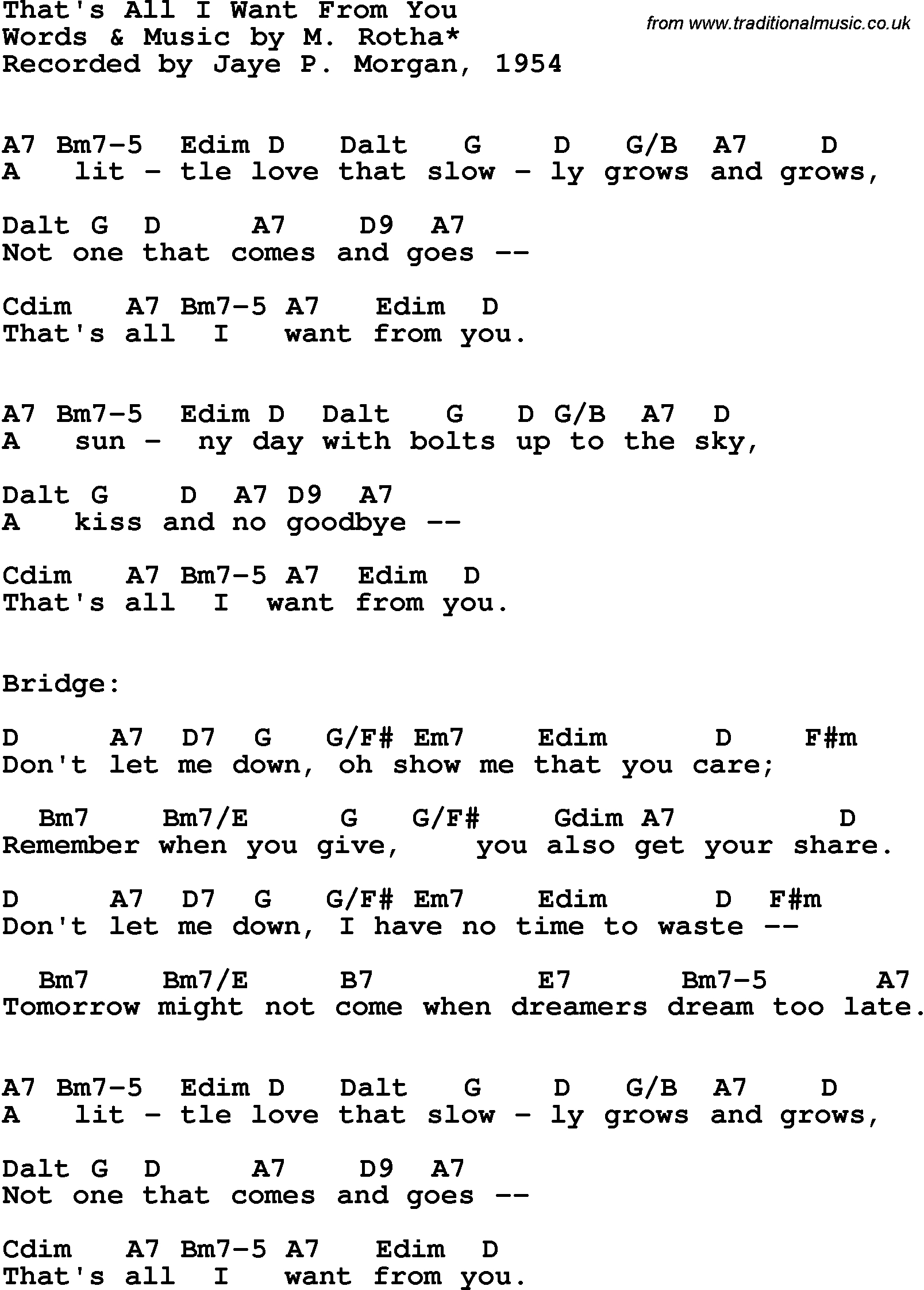 All I Want Chords Song Lyrics With Guitar Chords For Thats All I Want From You Jaye P