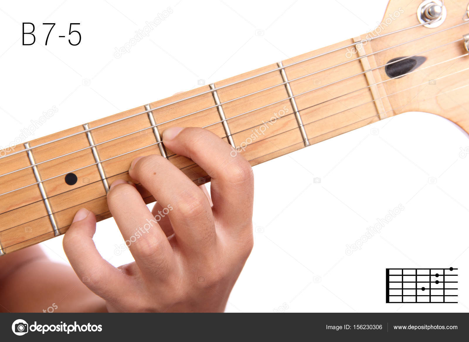 B7 Guitar Chord B7 5 Guitar Chord Tutorial Stock Photo Pepscostudio 156230306