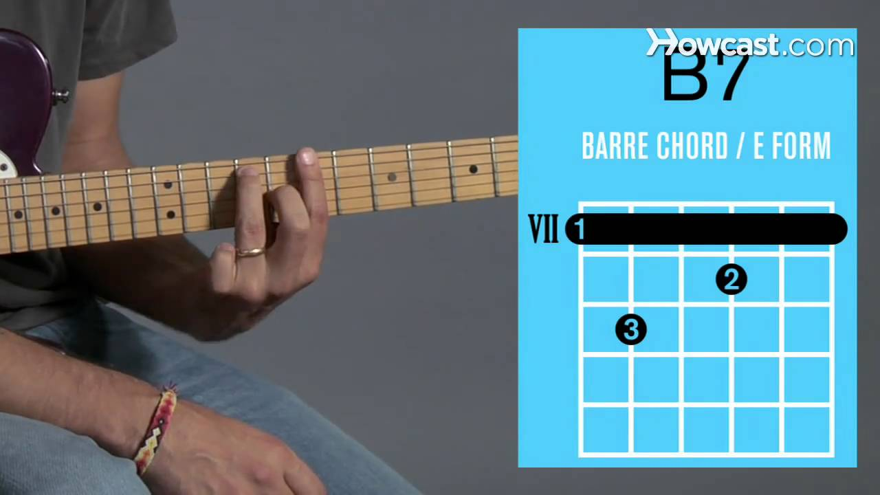 B7 Guitar Chord How To Play A B7 Barre Chord Guitar Lessons
