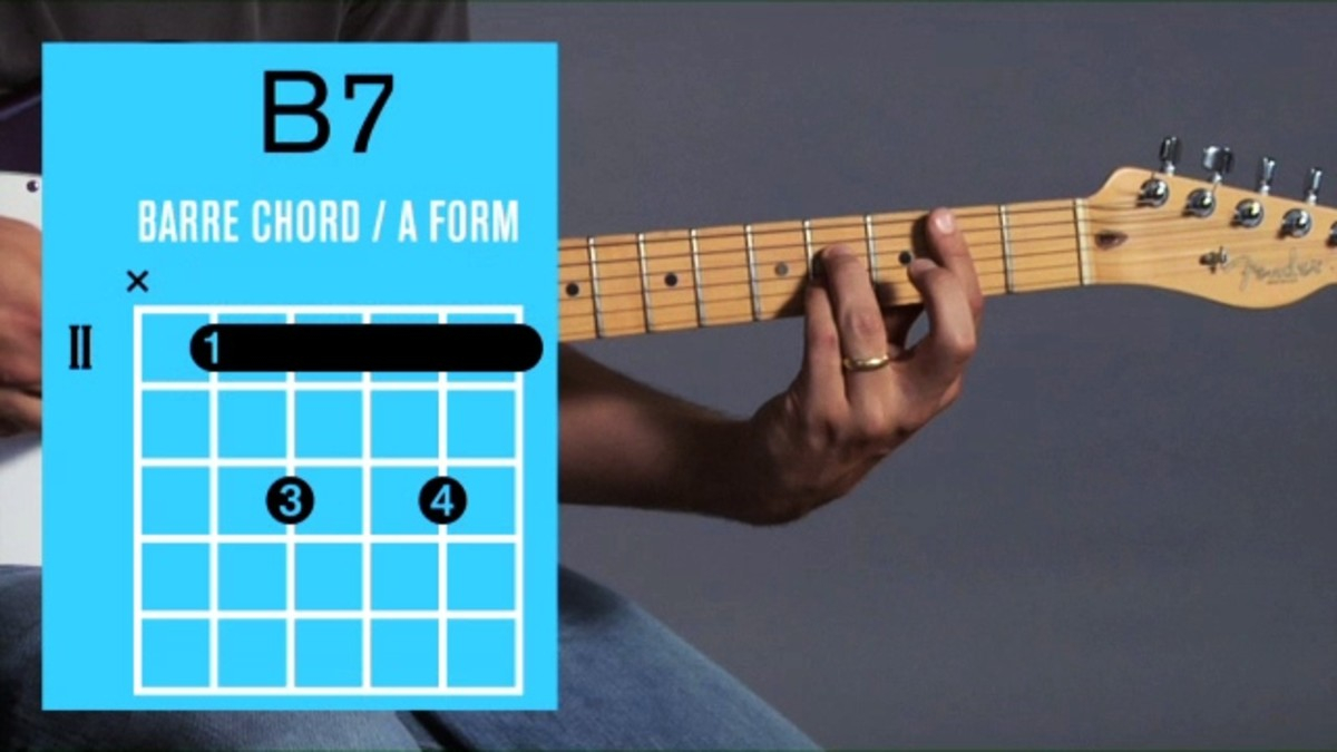 B7 Guitar Chord How To Play A B7 Barre Chord On Guitar Howcast The Best How To