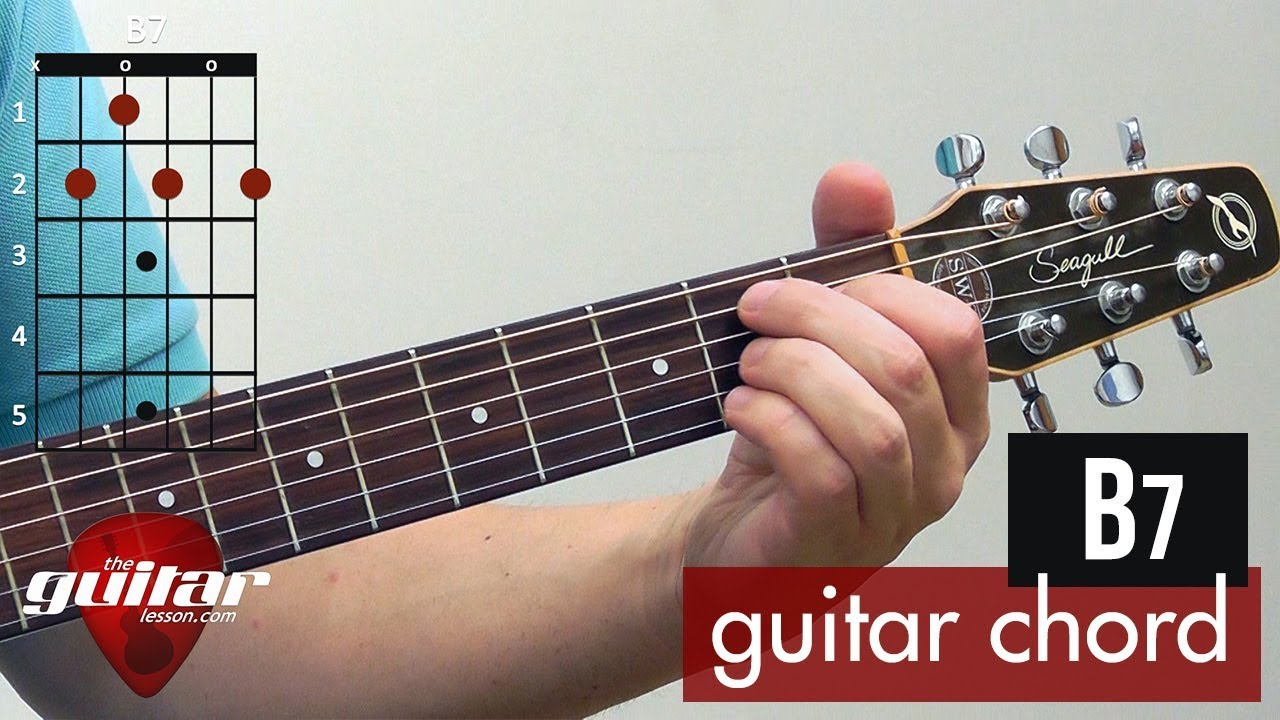 B7 Guitar Chord How To Play The B7 Chord Beginner Guitar Lesson