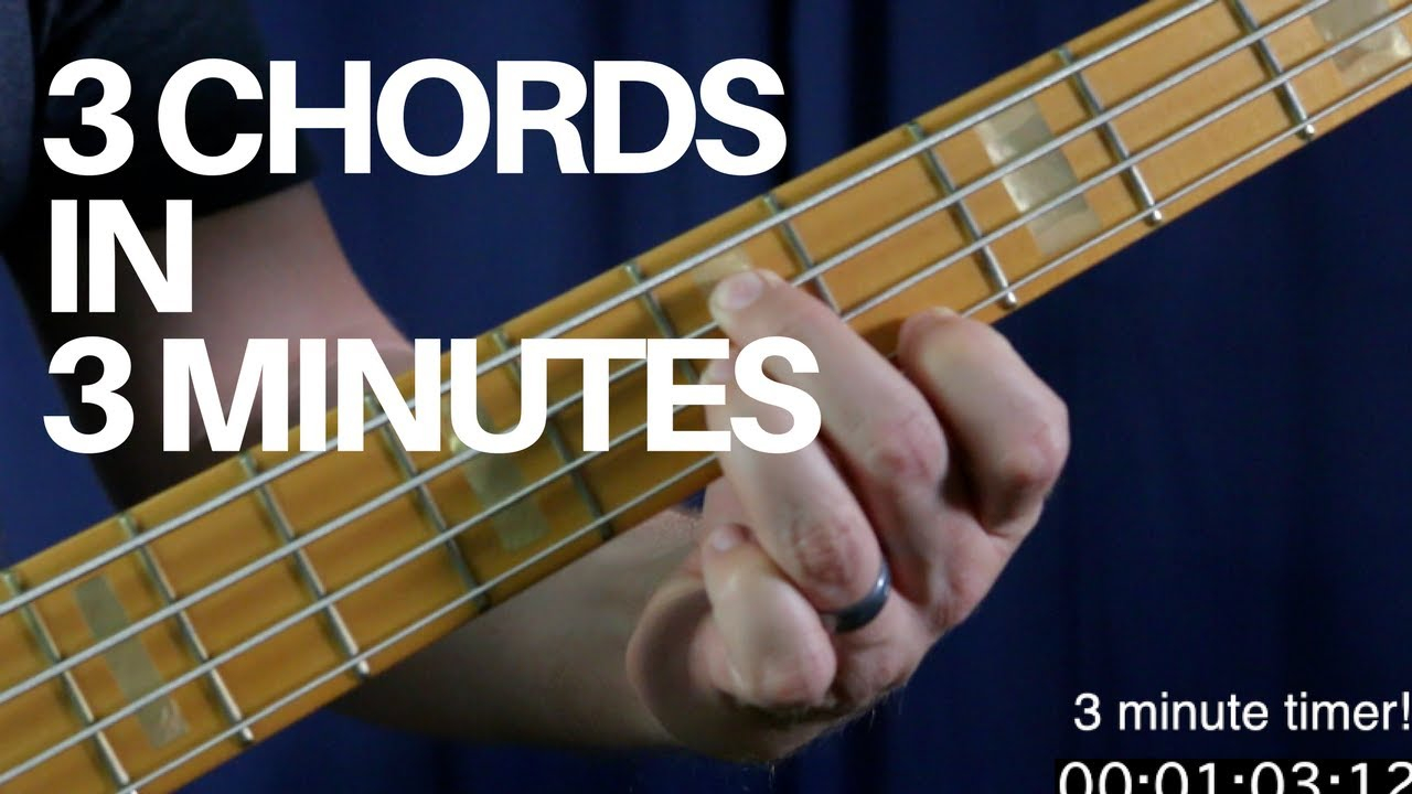 Bass Guitar Chords Learn How To Play 3 Movable Bass Chords In 3 Minutes Bass Guitar Lesson