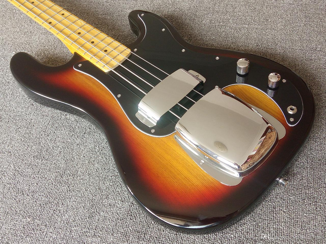 Bass Guitar Chords Top Quality 3 Tobacco Sunburst20 Frets4 Strings Pb Bassbridge Pickup Protection Steel Shieldmaple Neckelectric Bass Guitars