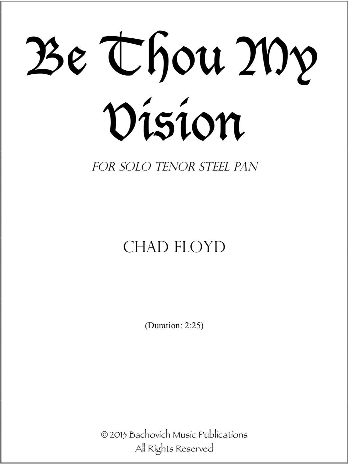 Be Thou My Vision Chords Be Thou My Vision Chad Floyd