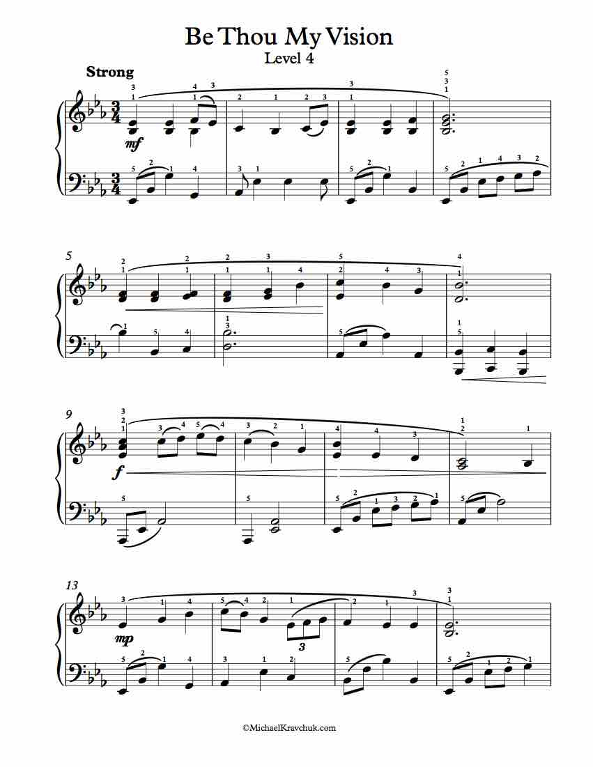 Be Thou My Vision Chords Free Piano Arrangement Sheet Music Be Thou My Vision Michael