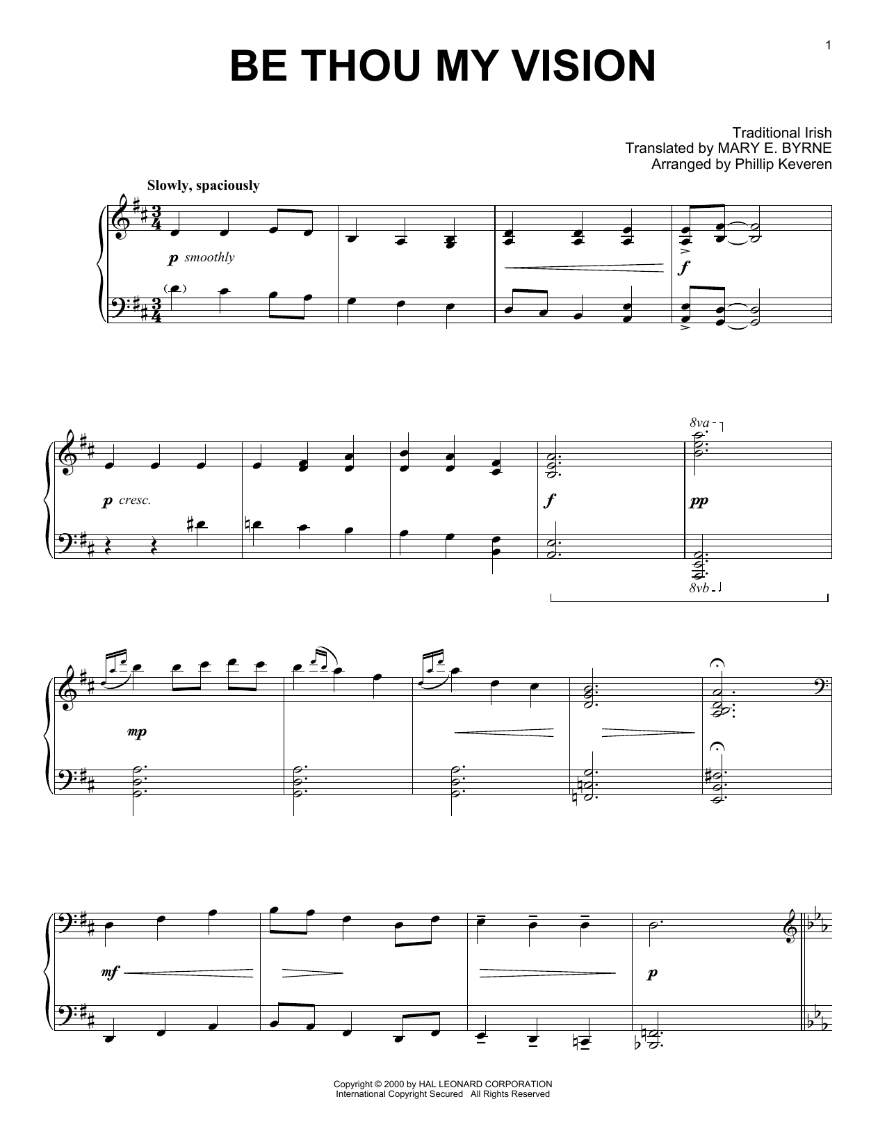 Be Thou My Vision Chords Phillip Keveren Be Thou My Vision Sheet Music Notes Chords Download Printable Piano Solo Sku 415739