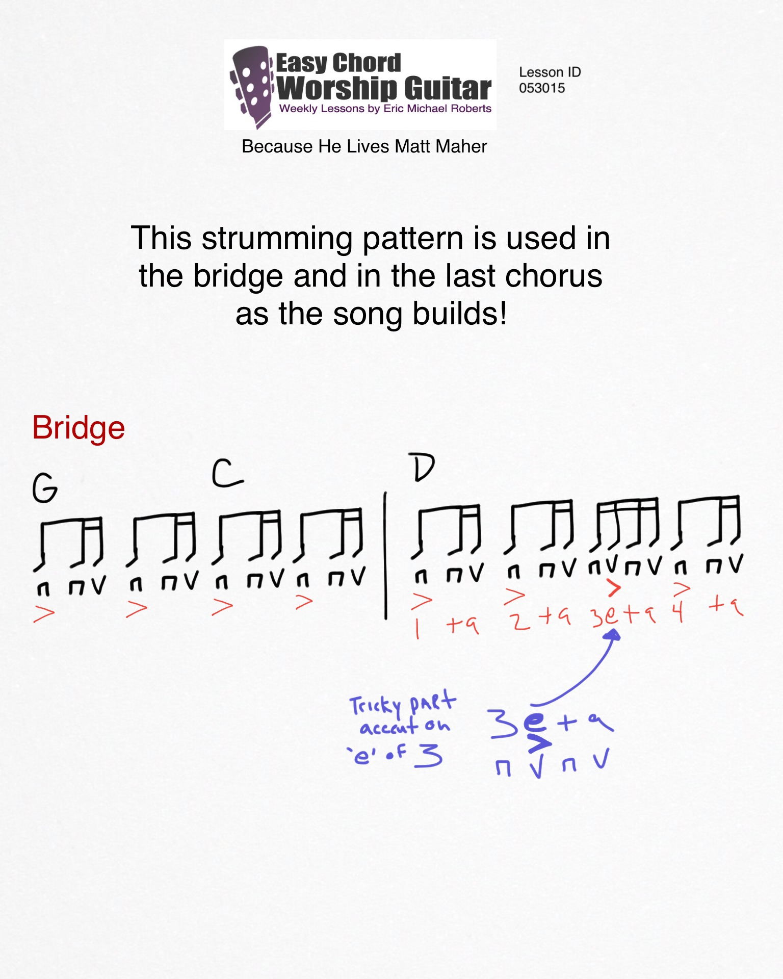 Because He Lives Chords Because He Lives Matt Maher Id053015 Easy Chord Worship Guitar Wtk