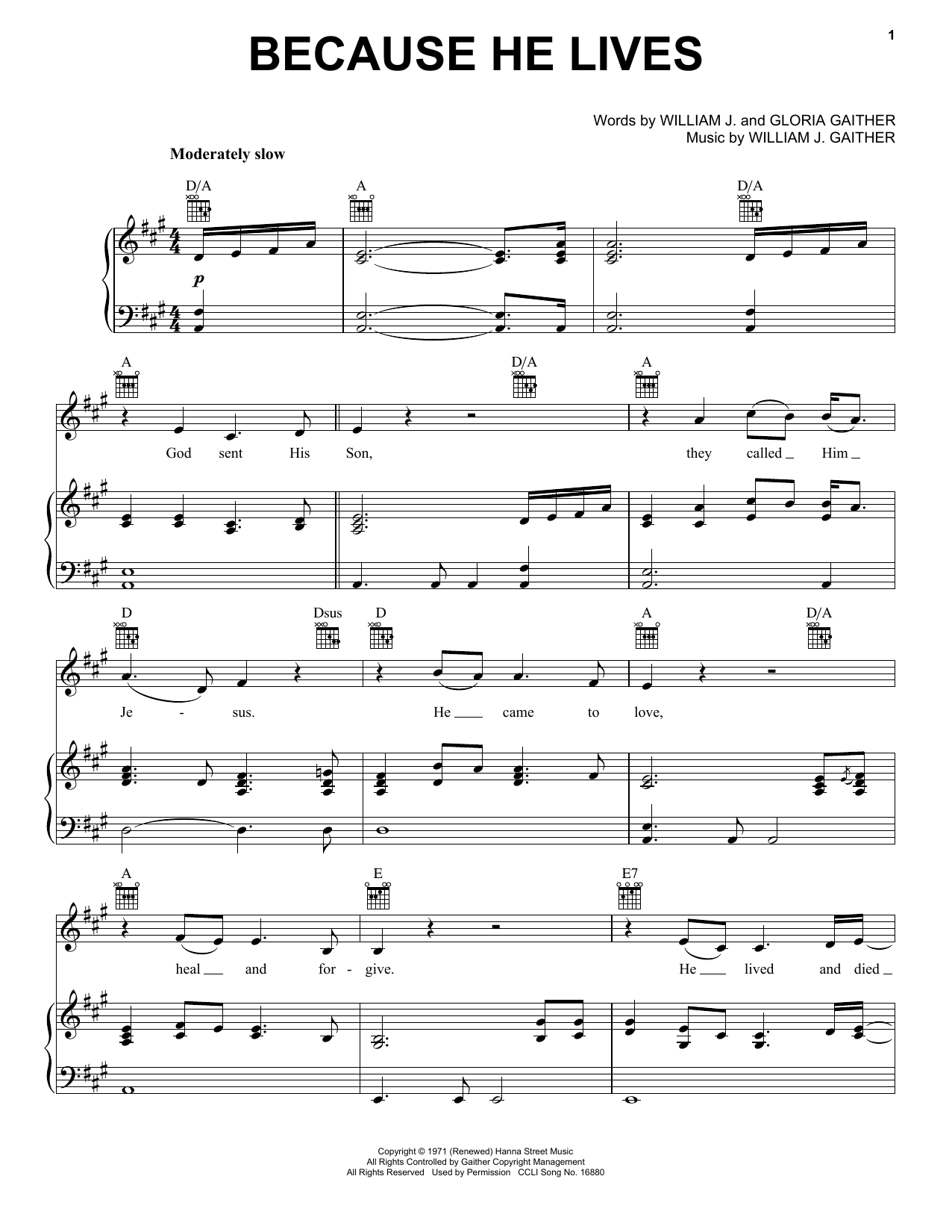 Because He Lives Chords David Crowder Band Because He Lives Sheet Music Notes Chords Download Printable Piano Vocal Guitar Right Hand Melody Sku 157507