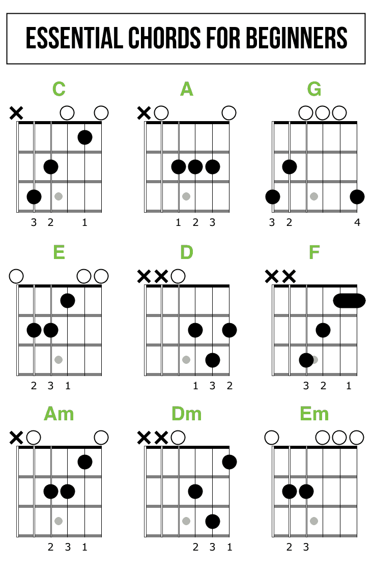 Beginner Guitar Chords How To Read Guitar Chord Diagrams Quickstart Guide Zing Instruments