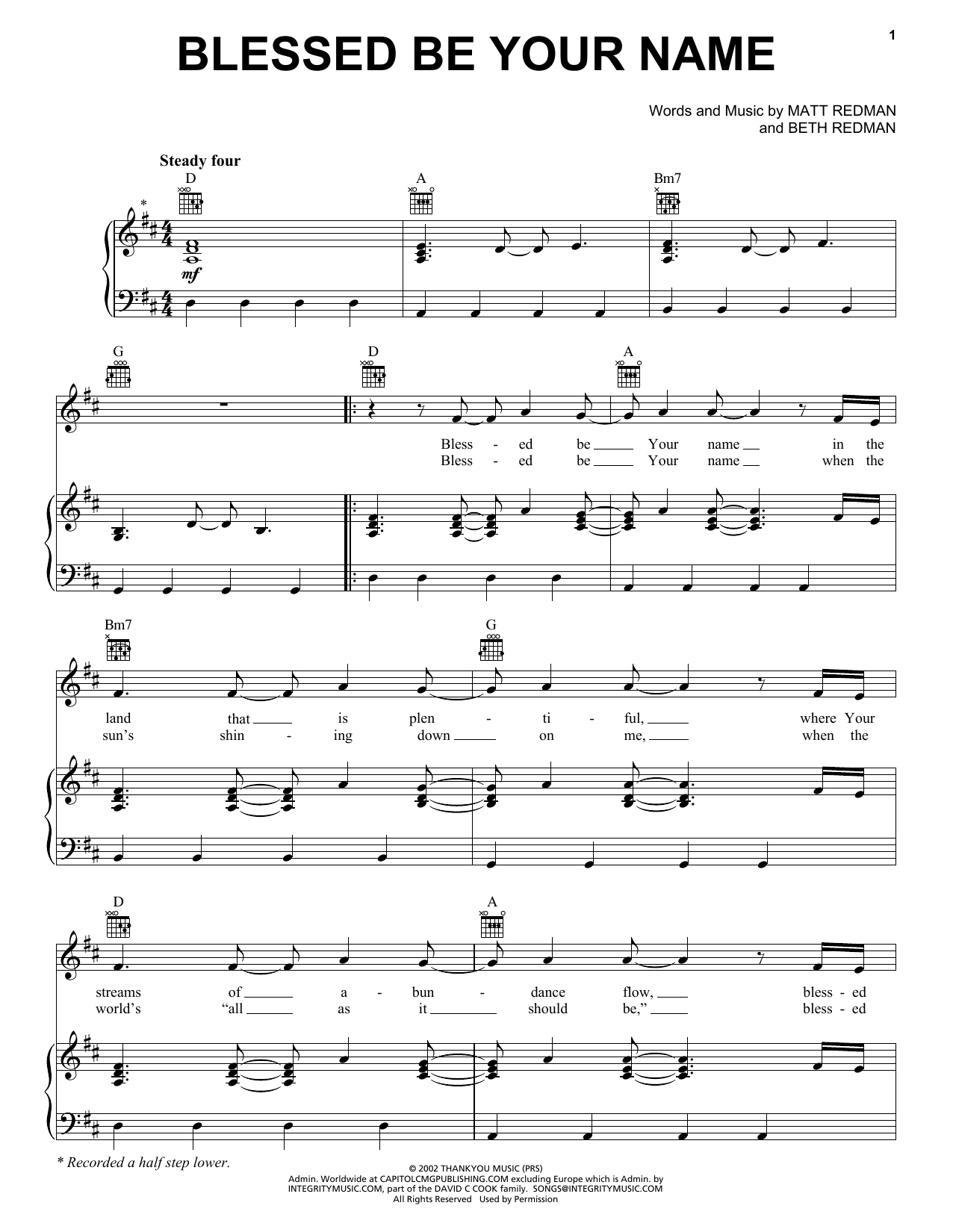Blessed Be Your Name Chords Tree63 Blessed Be Your Name Sheet Music Notes Chords