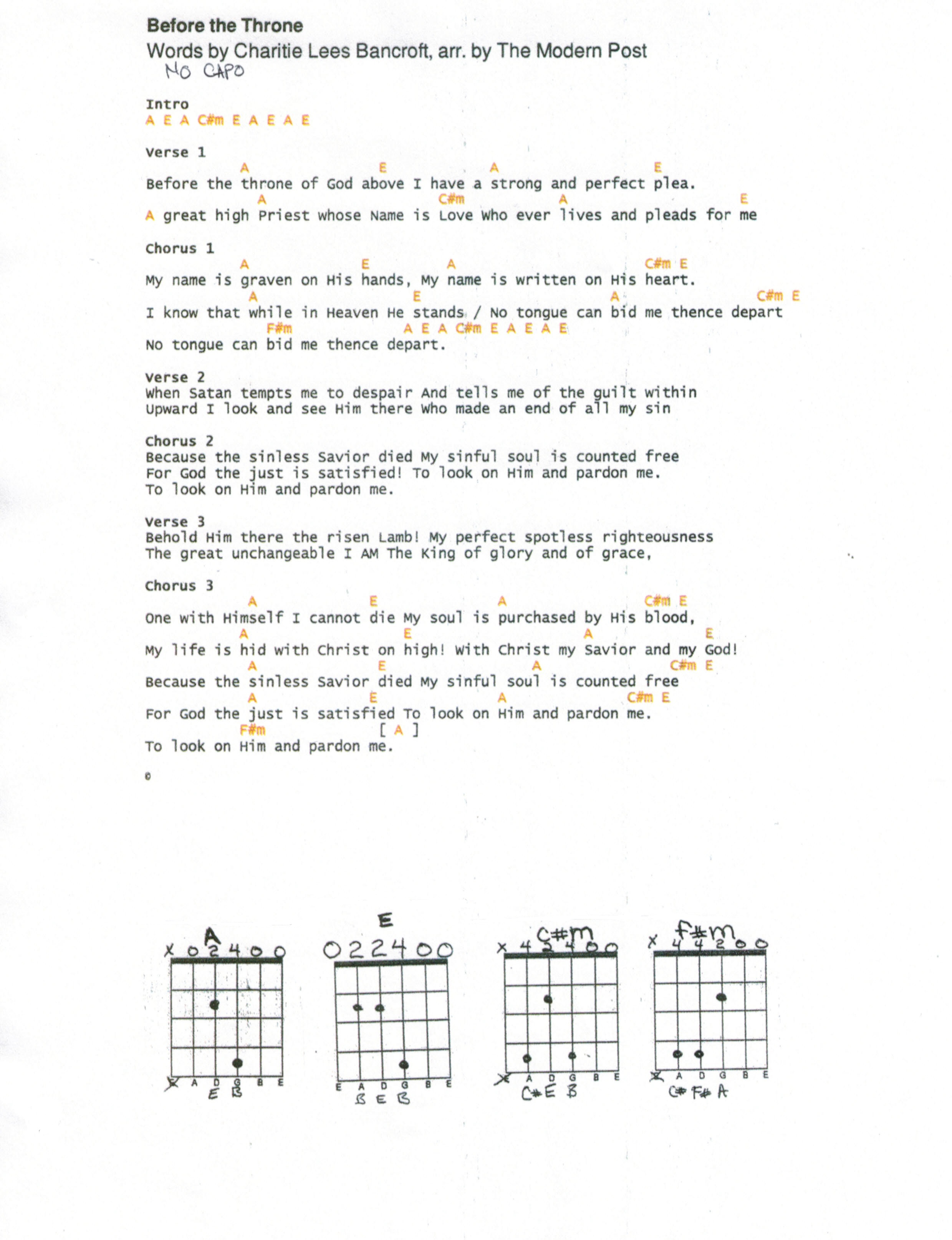 Blessed Be Your Name Chords Worship Songs Nelson Learning