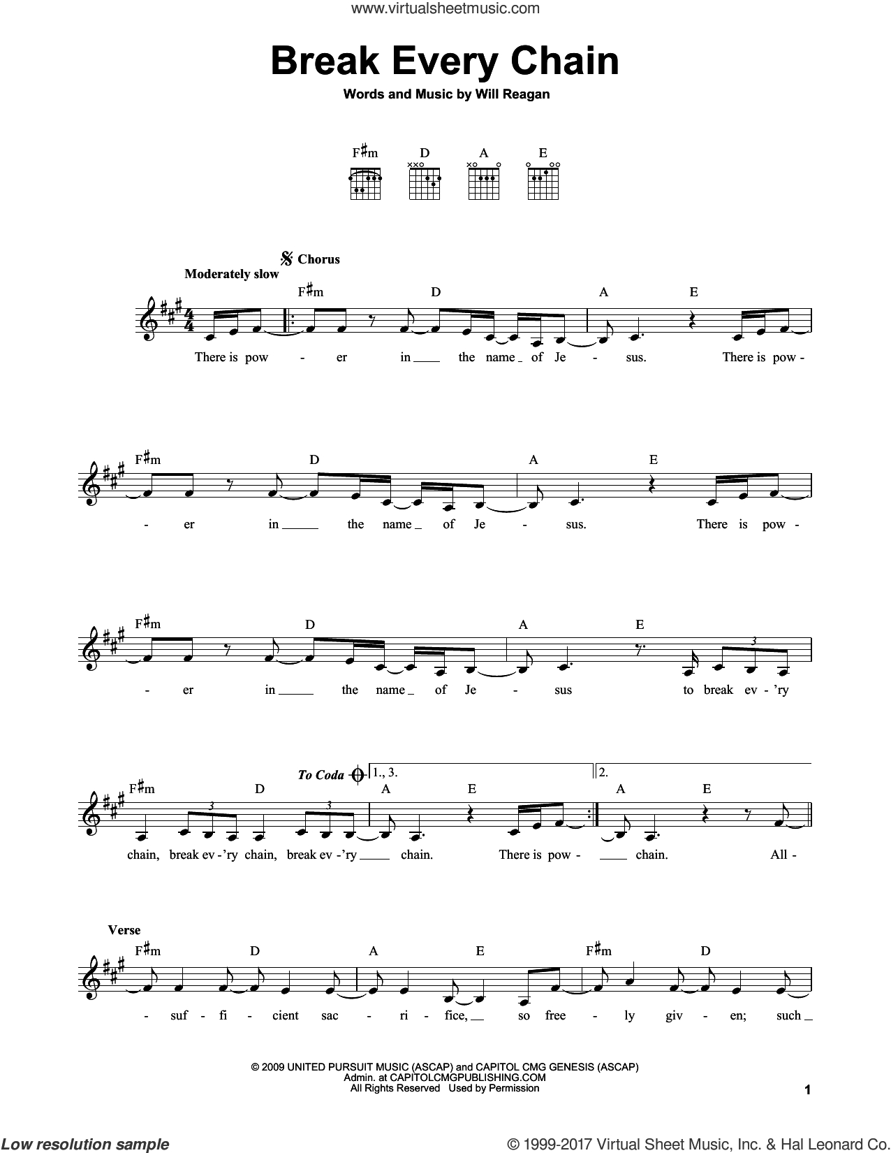 Break Every Chain Chords Reagan Break Every Chain Sheet Music For Guitar Solo Chords