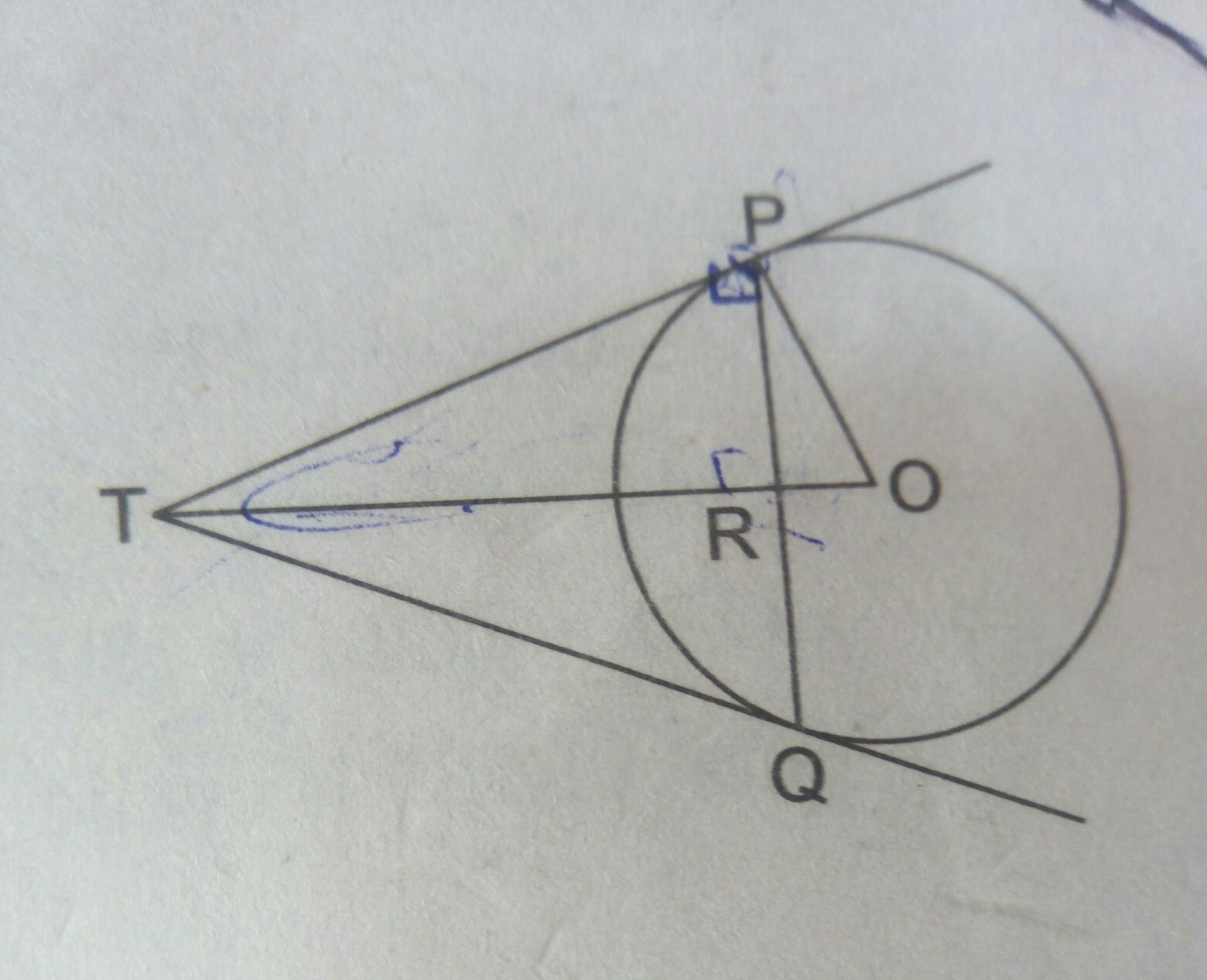 C M Chord Pq Is A Chord Of Length 48 Cm Of A Circle Of Radius 3 Cm T The