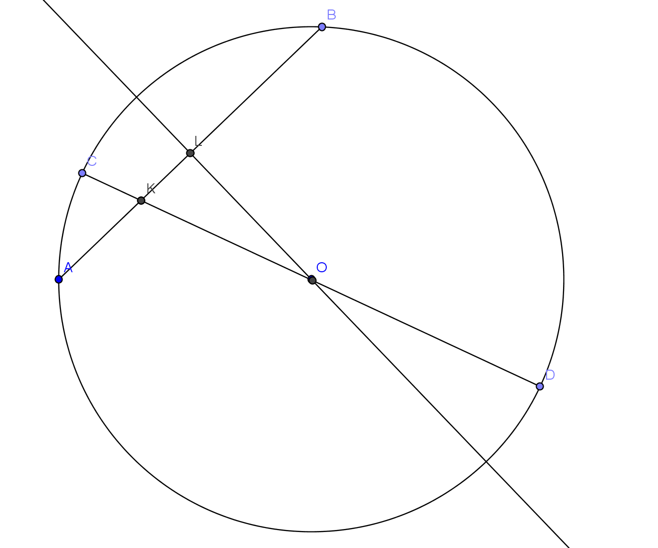 Chord Of A Circle Geometry Find A Line Orthogonal To A Chord Of A Circle