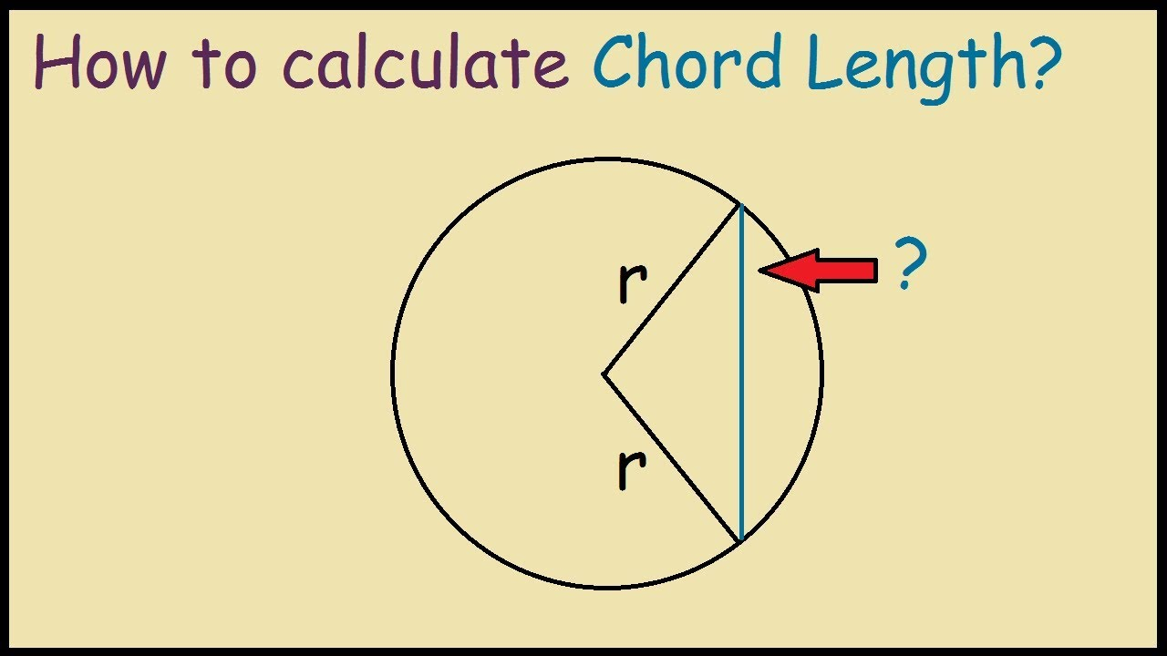 Chord Of A Circle How To Calculate Chord Length Of A Circle