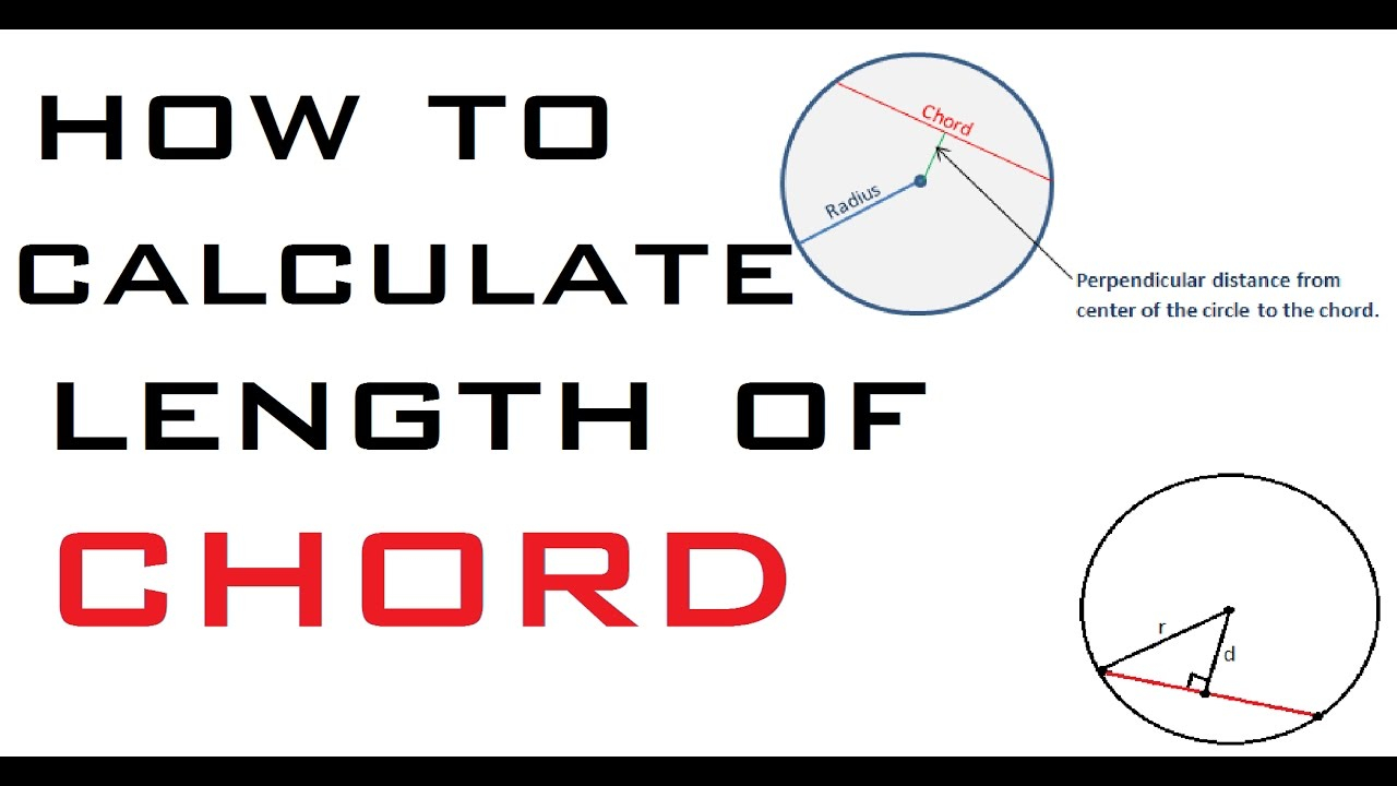 Chord Of A Circle How To Calculate Length Of Chord For Circle Learning Technology