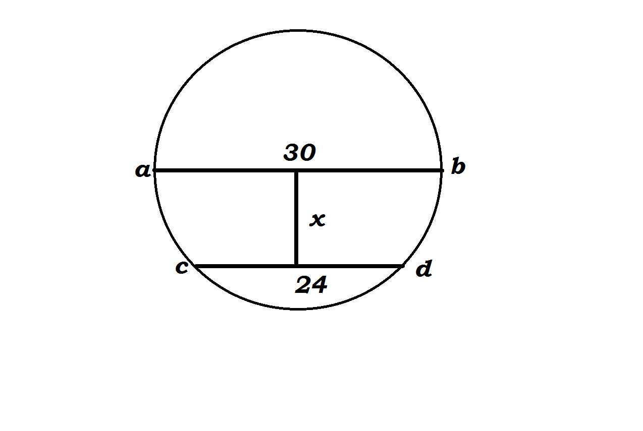 Chord Of A Circle Suppose The Diameter Of A Circle Is 30 Centimeters Long And A Chord
