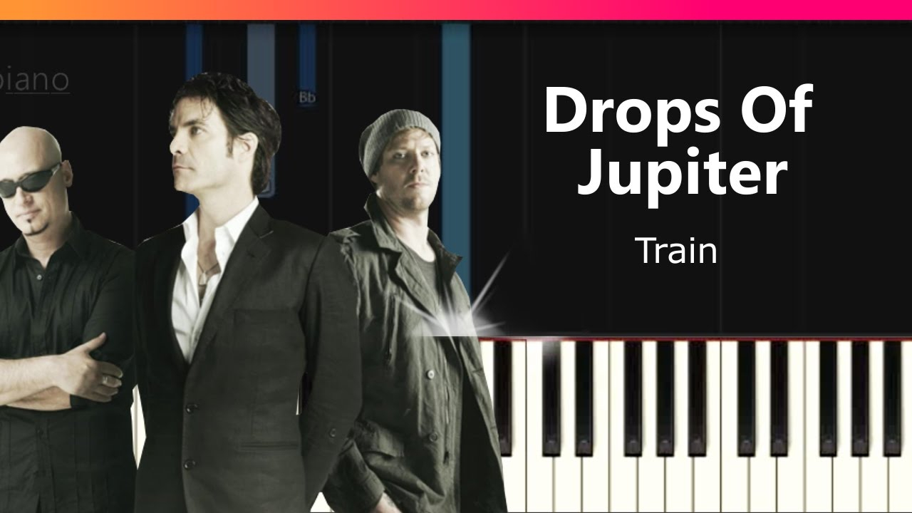 Drops Of Jupiter Chords Train Drops Of Jupiter Easy Piano Tutorial Chords How To Play Cover