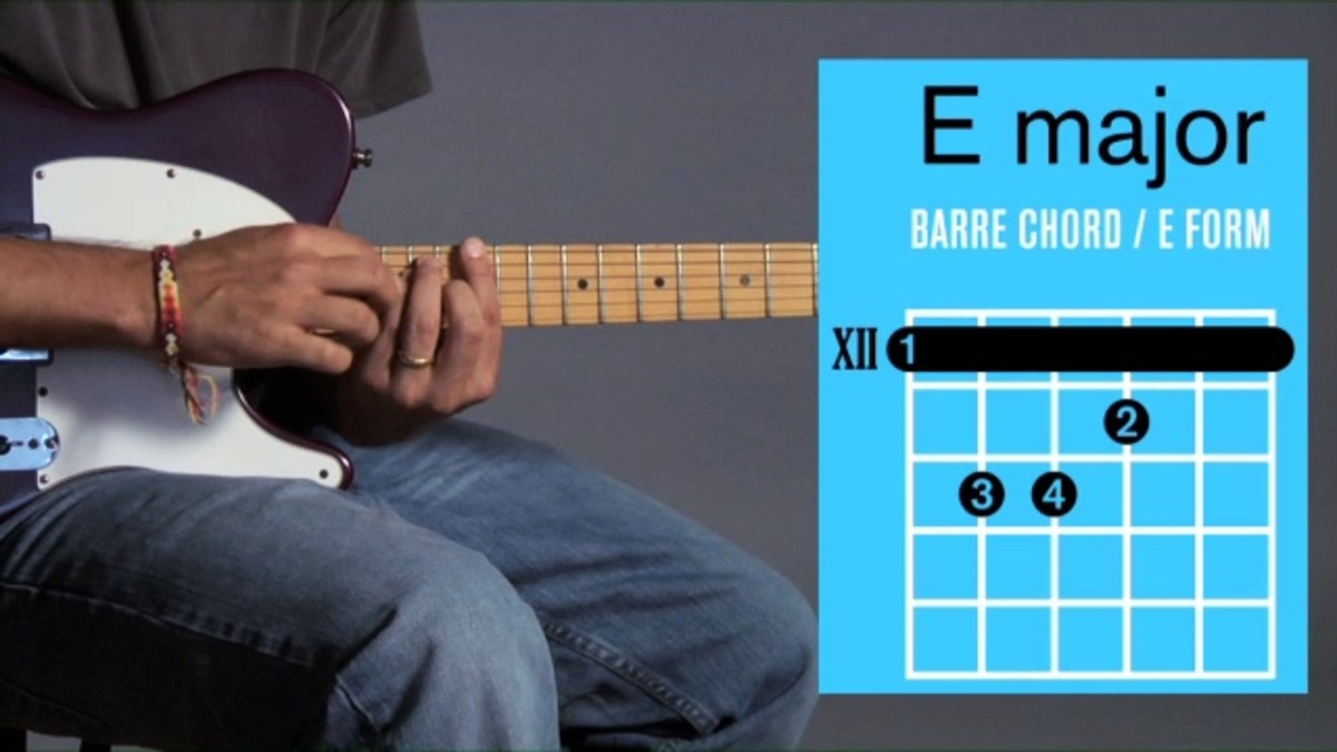 E Chord Guitar How To Play Barre Chords In E Major On A Guitar Howcast The Best