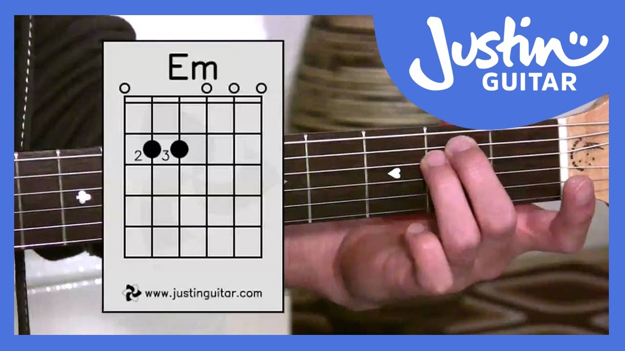 E Minor Chord E Minor Chord Em Stage 2 Guitar Lesson Guitar For Beginners Bc 122