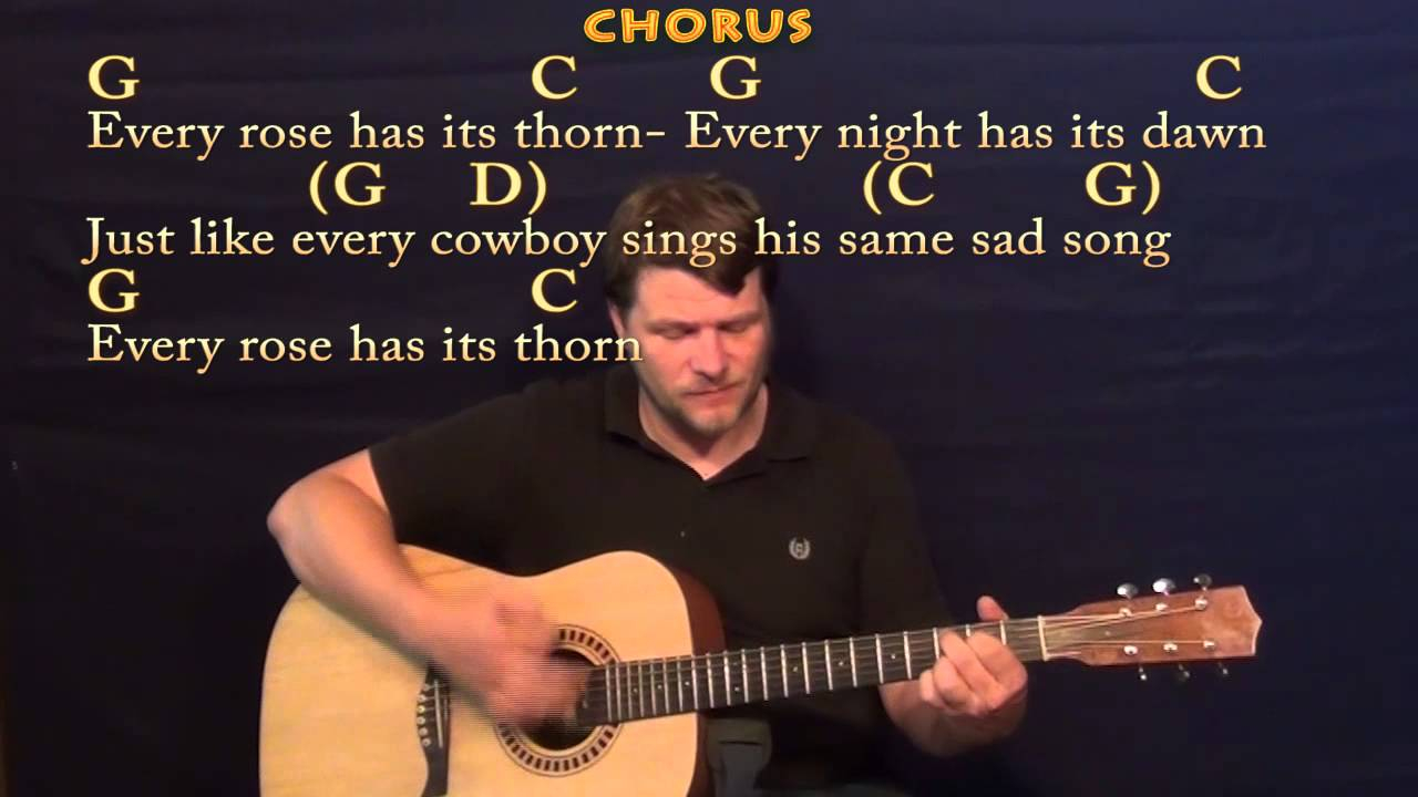 Every Rose Has Its Thorn Chords Every Rose Has Its Thorn Poison Strum Guitar Cover Lesson With Chords Lyrics