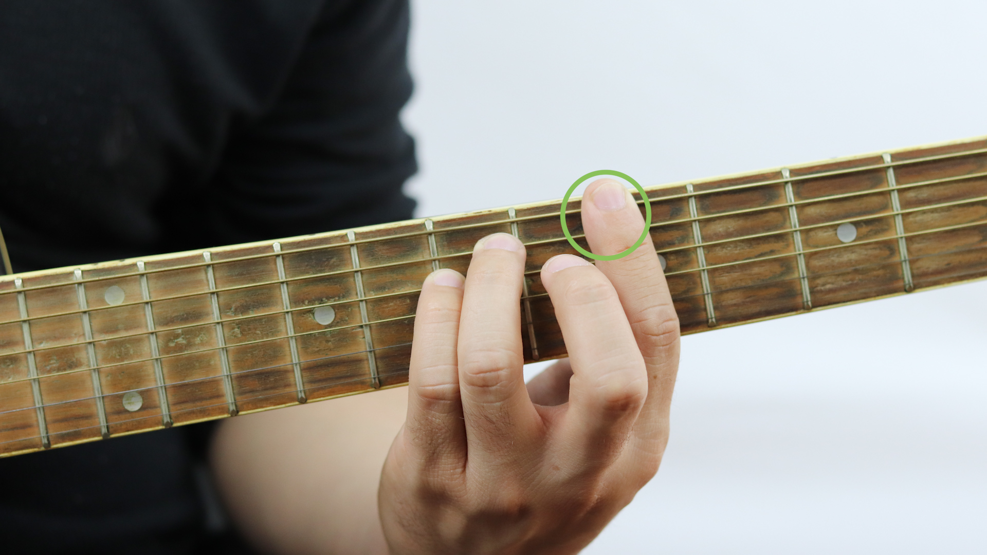 F Chord Guitar How To Play An A Major Chord On The Guitar With Pictures