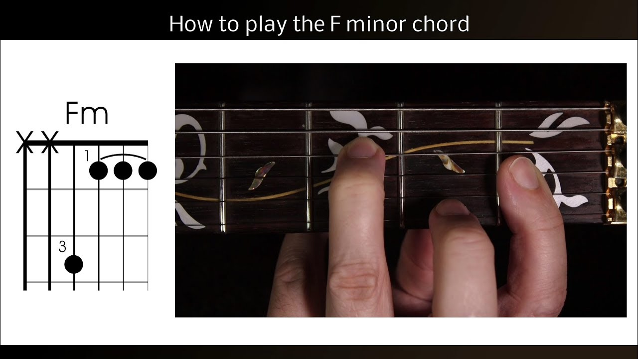 F M Chord How To Play Fm Guitar Chord The F Minor Half Barre Chord