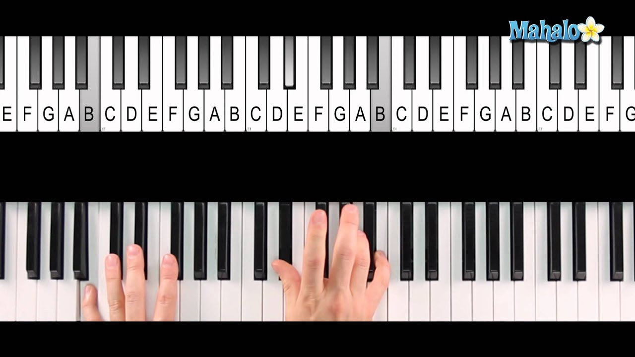 F# Piano Chord How To Play An F Sharp 7 Chord F7 On Piano