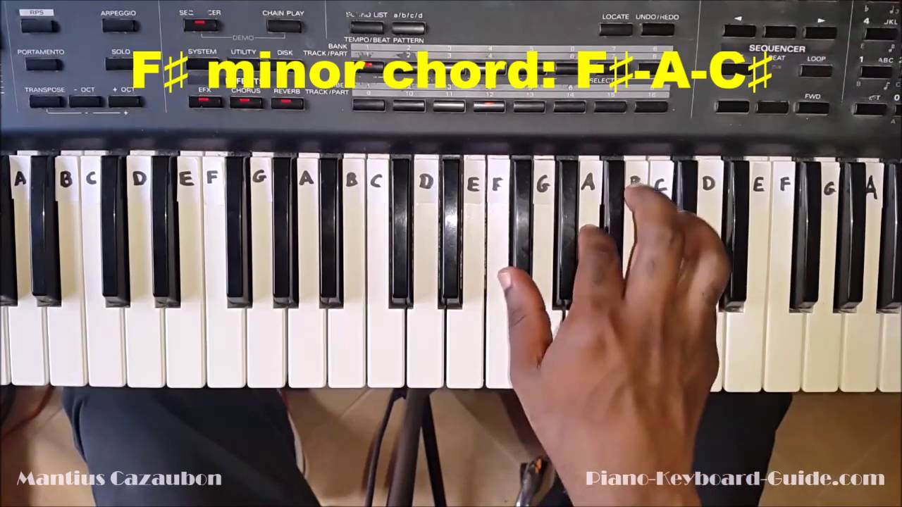 F# Piano Chord How To Play The F Sharp Minor Chord F Minor On Piano And Keyboard Fm Fmin