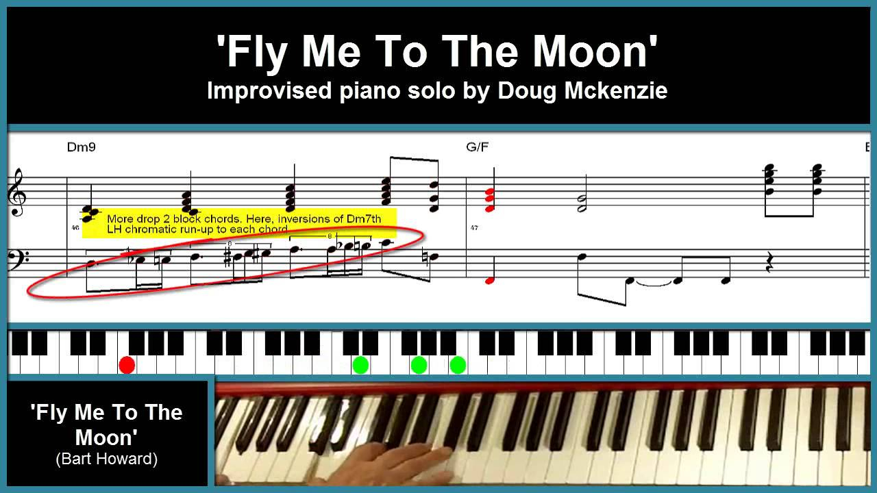 Fly Me To The Moon Chords Fly Me To The Moon Jazz Piano Tutorial