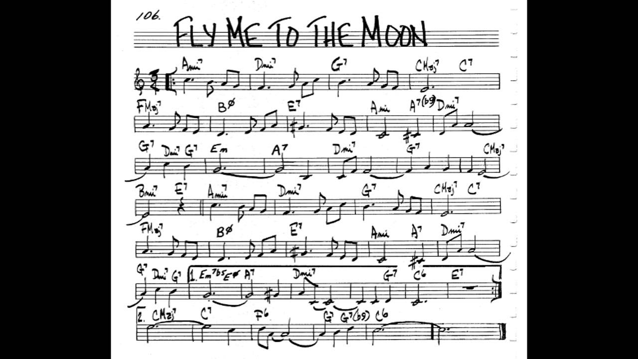 Fly Me To The Moon Chords Fly Me To The Moon Play Along Backing Track 34 Score C Key Score Violinguitarpiano