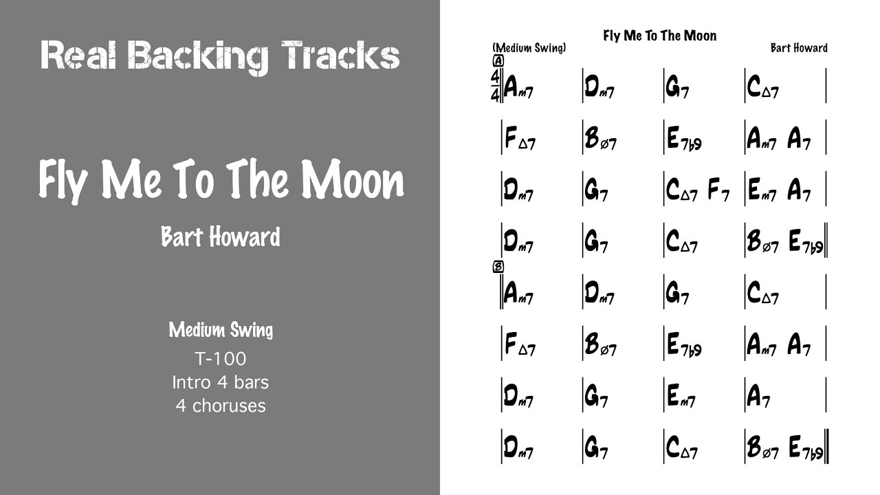 Fly Me To The Moon Chords Fly Me To The Moon Real Jazz Backing Track Play Along