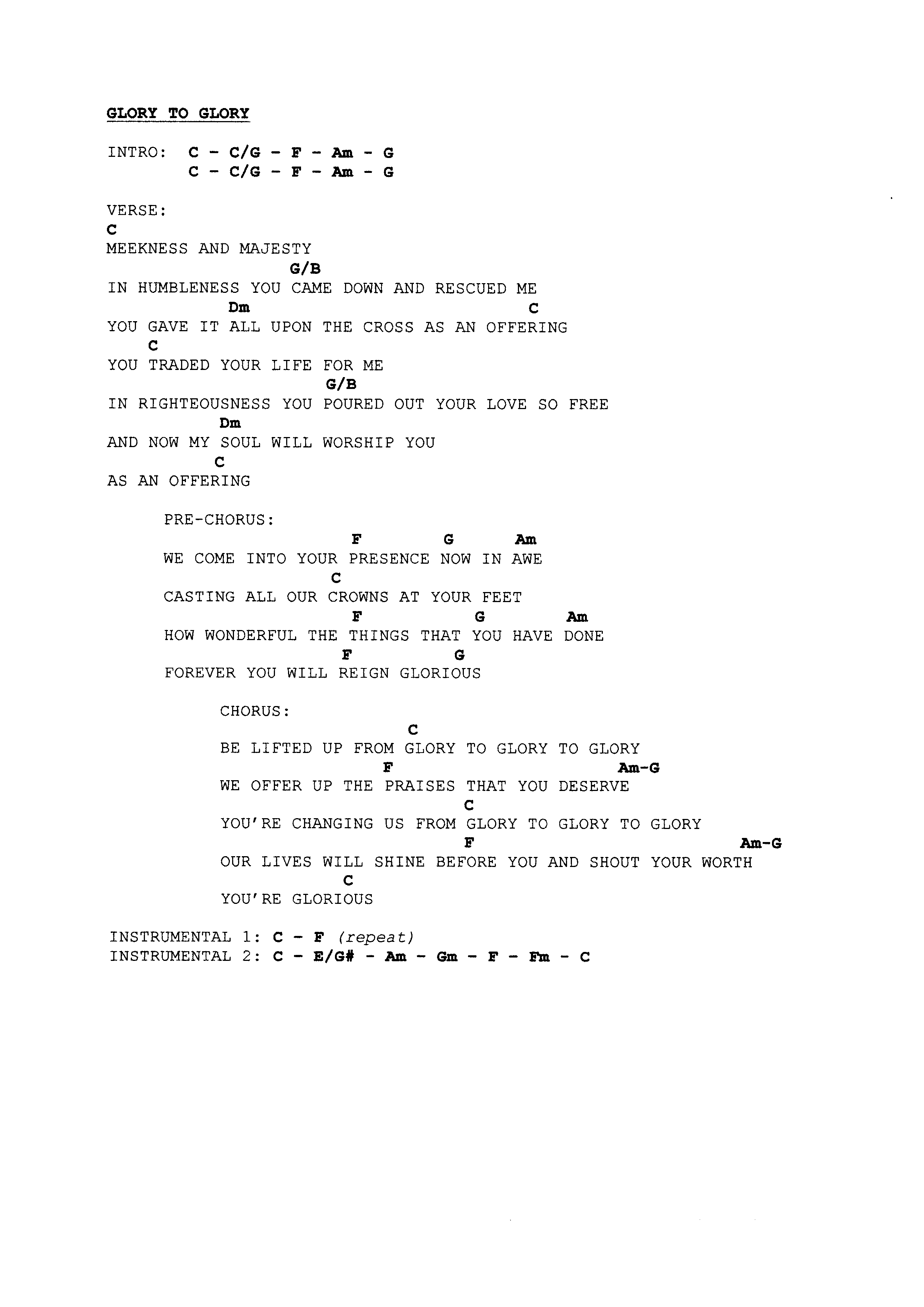 Forever Reign Chords Praise Worship Chords Page 6 The Idiot In Me