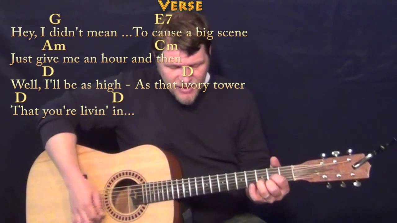 Friends In Low Places Chords Friends In Low Places Garth Brooks Strum Guitar Cover Lesson In G With Chordslyrics