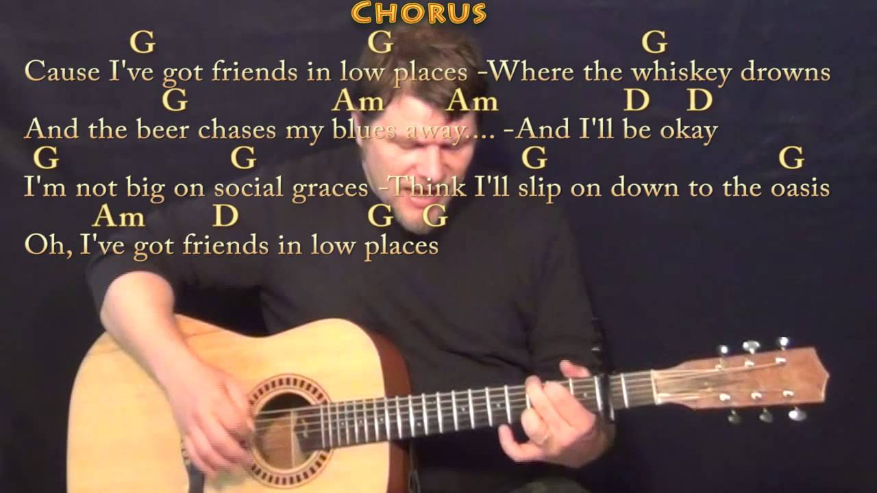 Friends In Low Places Chords Friends In Low Places Garth Brooks Strum Guitar Cover Lesson With Chordslyrics Capo 2nd