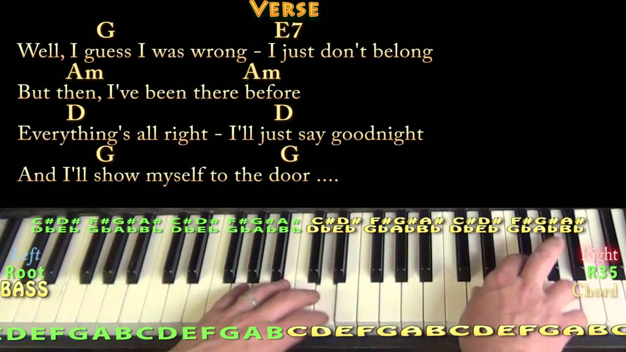 Friends In Low Places Chords Friends In Low Places Piano Cover Lesson In G With Chordslyrics