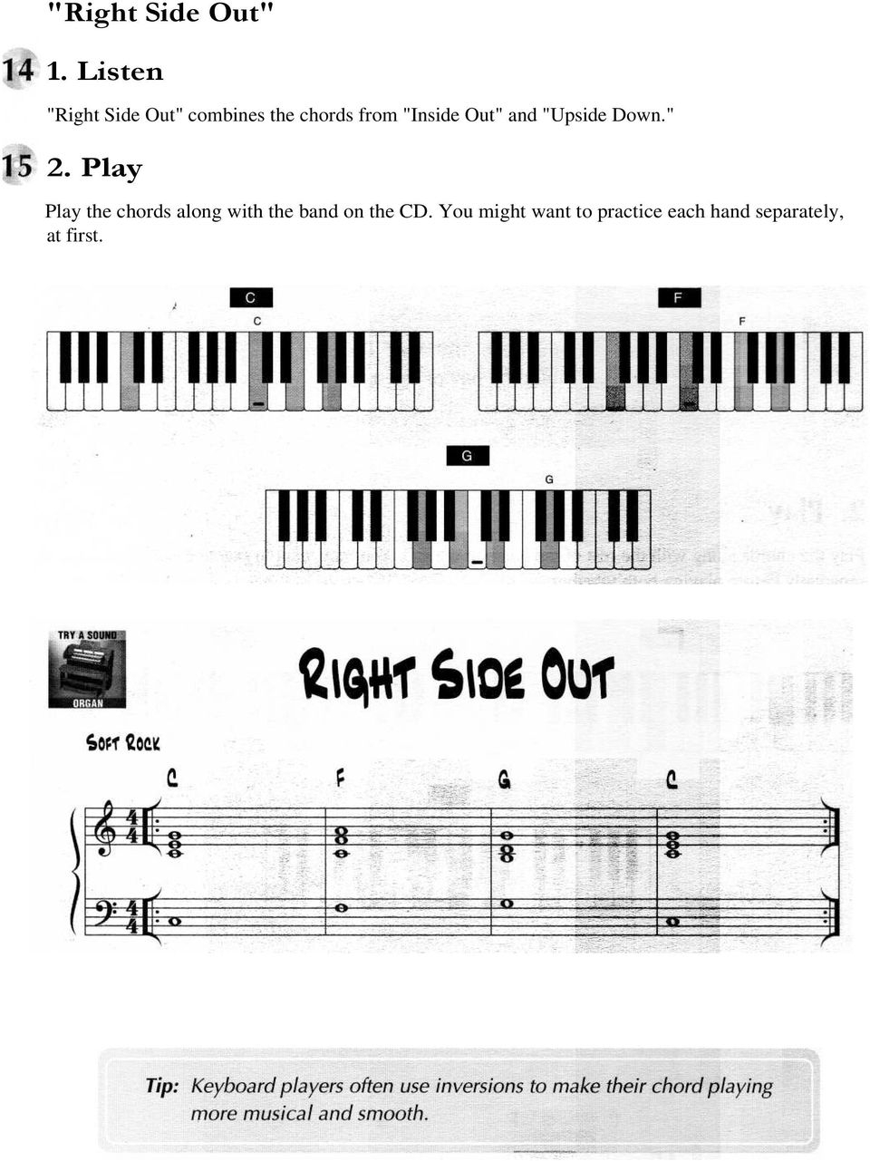 From The Inside Out Chords C Chord Play These Three Notes At The Same Time With Your Right