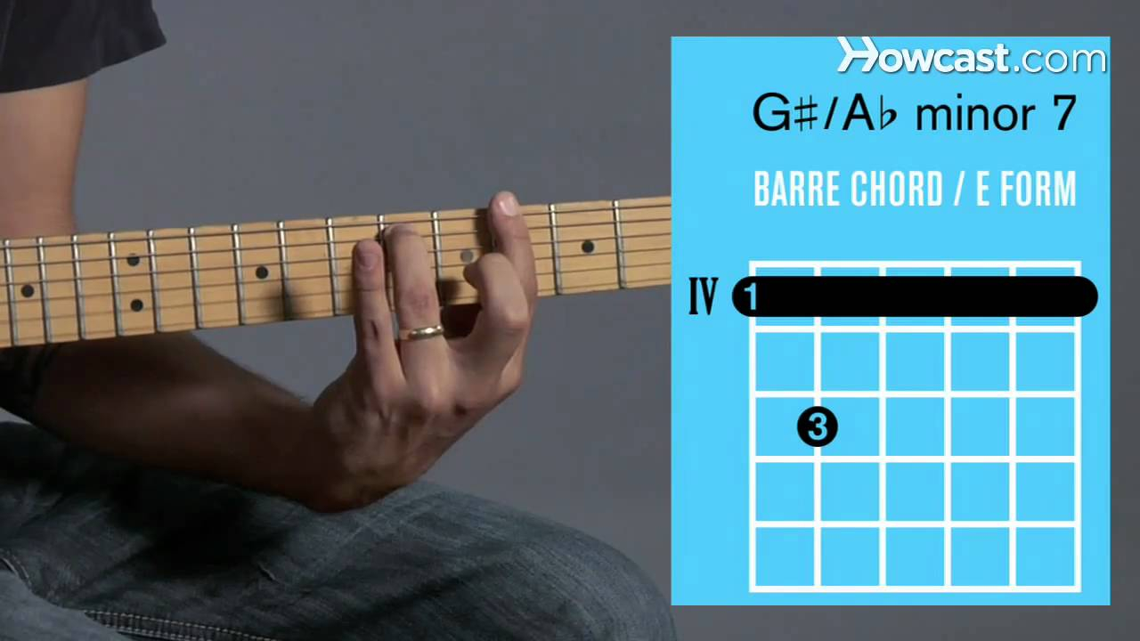 G Minor Chord Aminor 7 G Minor 7 Barre Chord Guitar Lessons