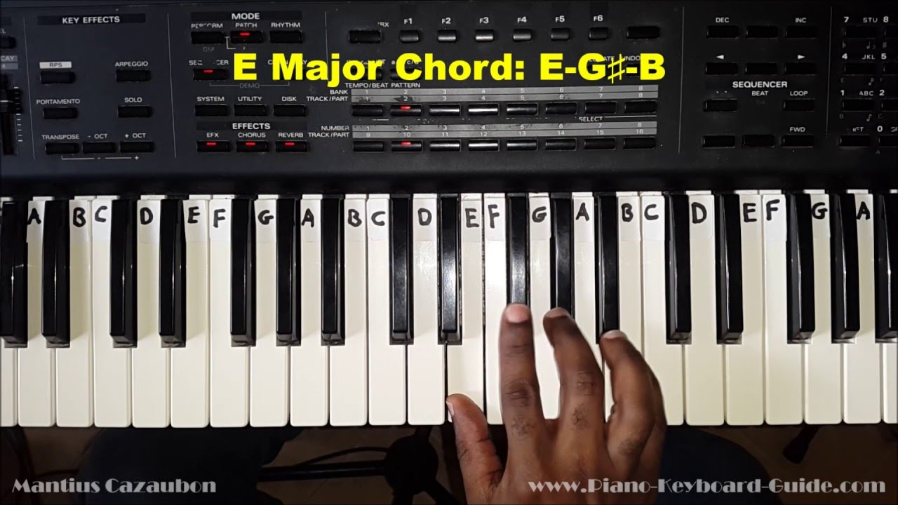 G# Piano Chord E Major Chord On Piano