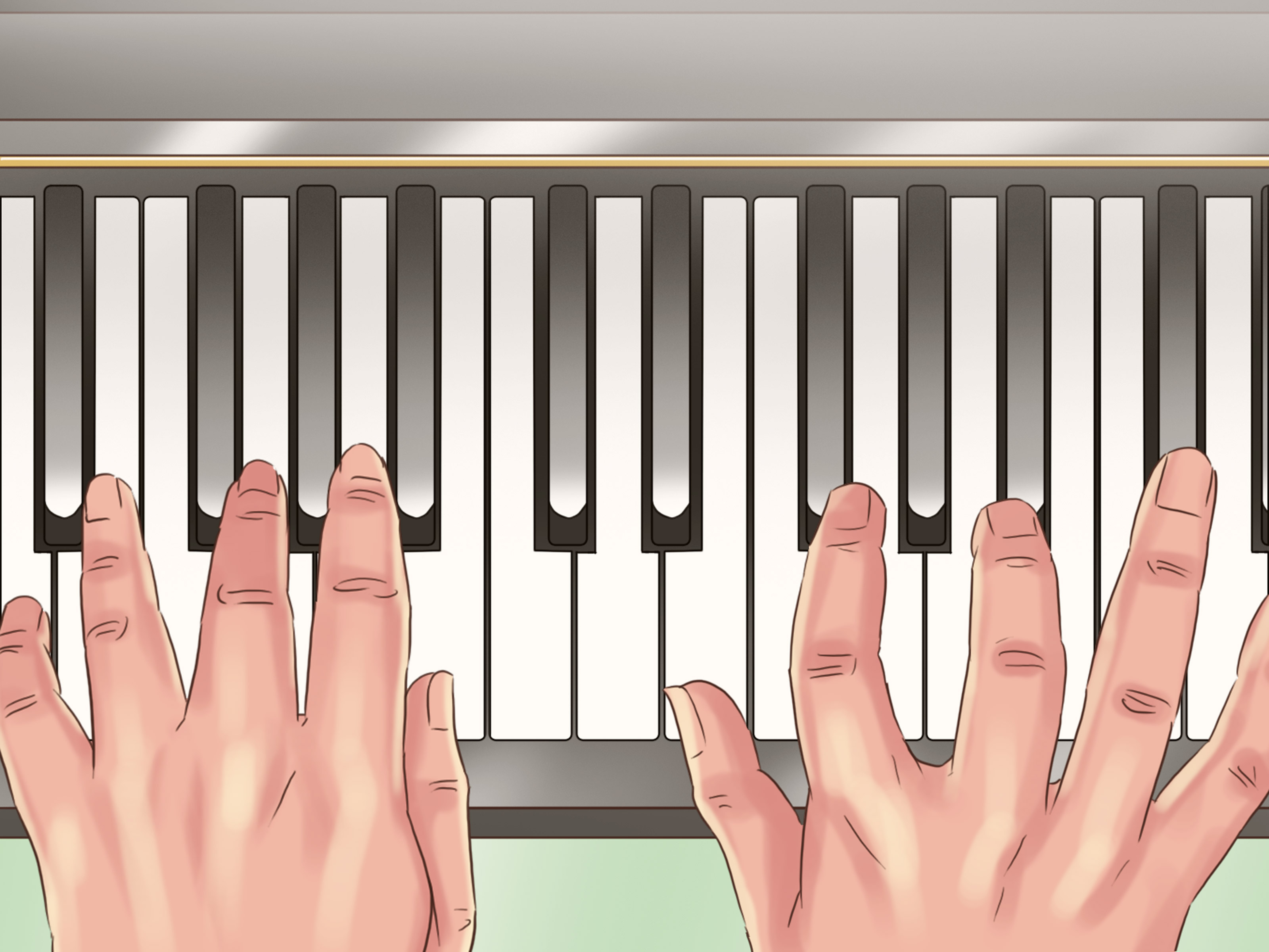 G# Piano Chord How To Play A C Chord On The Piano 5 Steps With Pictures