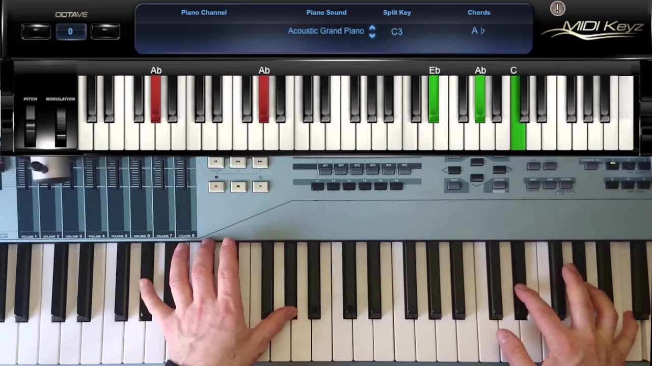 G# Piano Chord How To Play Piano Chord G Ab Major