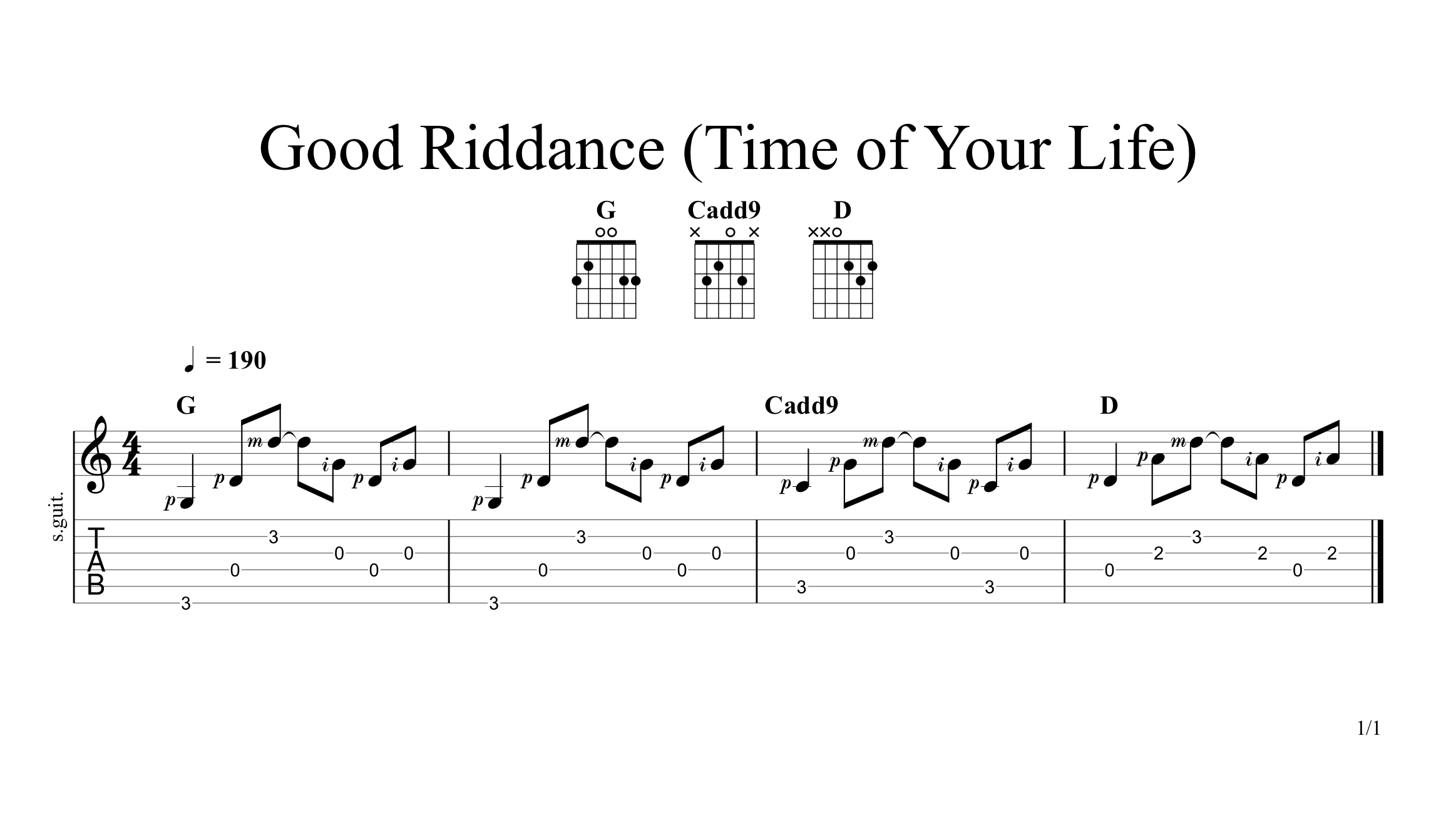 Good Riddance Chords Good Riddance Time Of Your Life Green Day Guitar Lesson