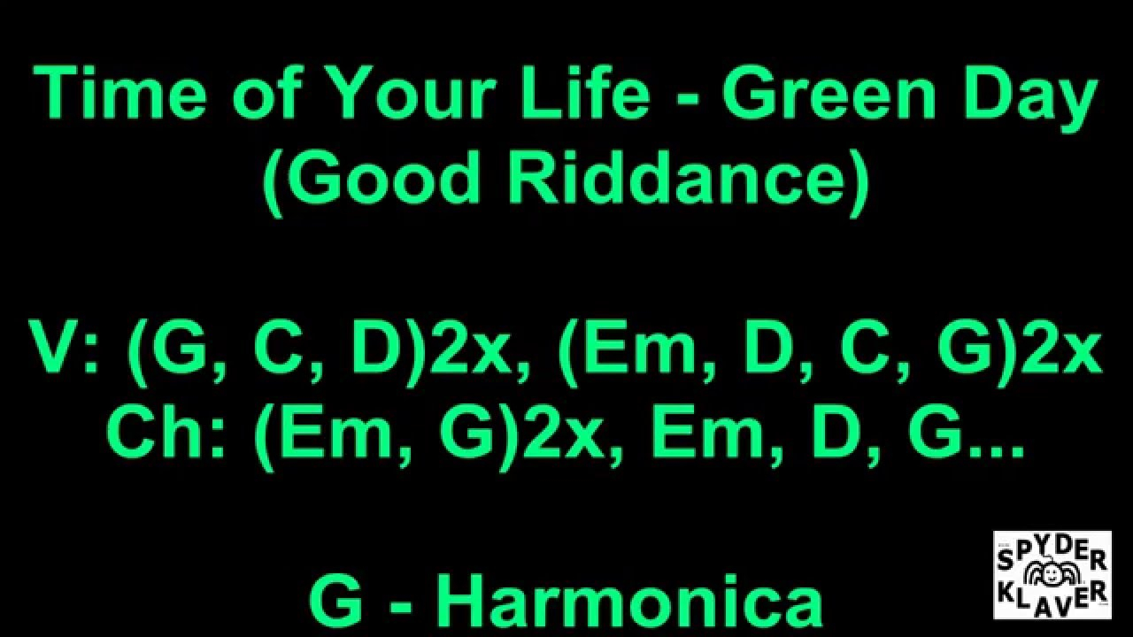 Good Riddance Chords Good Riddance Time Of Your Life Green Day Lyrics Chords