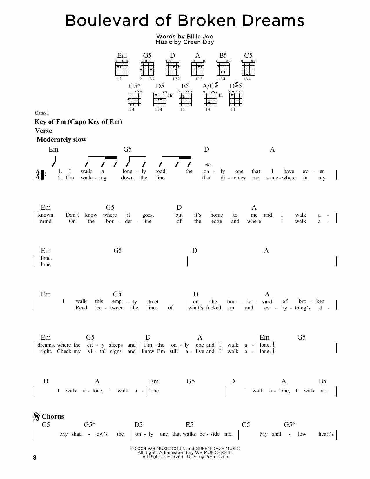 Good Riddance Chords Green Day Guitar Chords Accomplice Music
