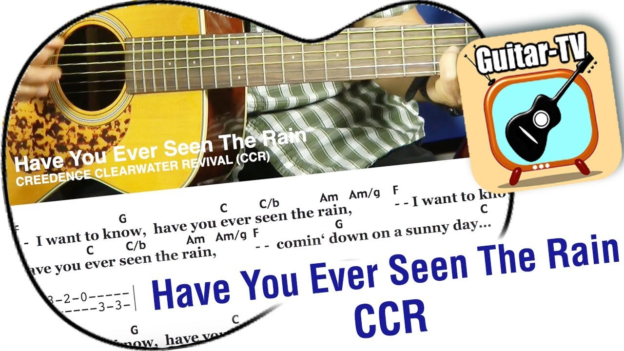 Have You Ever Seen The Rain Chords 202 Have You Ever Seen The Rain Ccr Cover Tutorial Easy Lesson Lyrics Chords