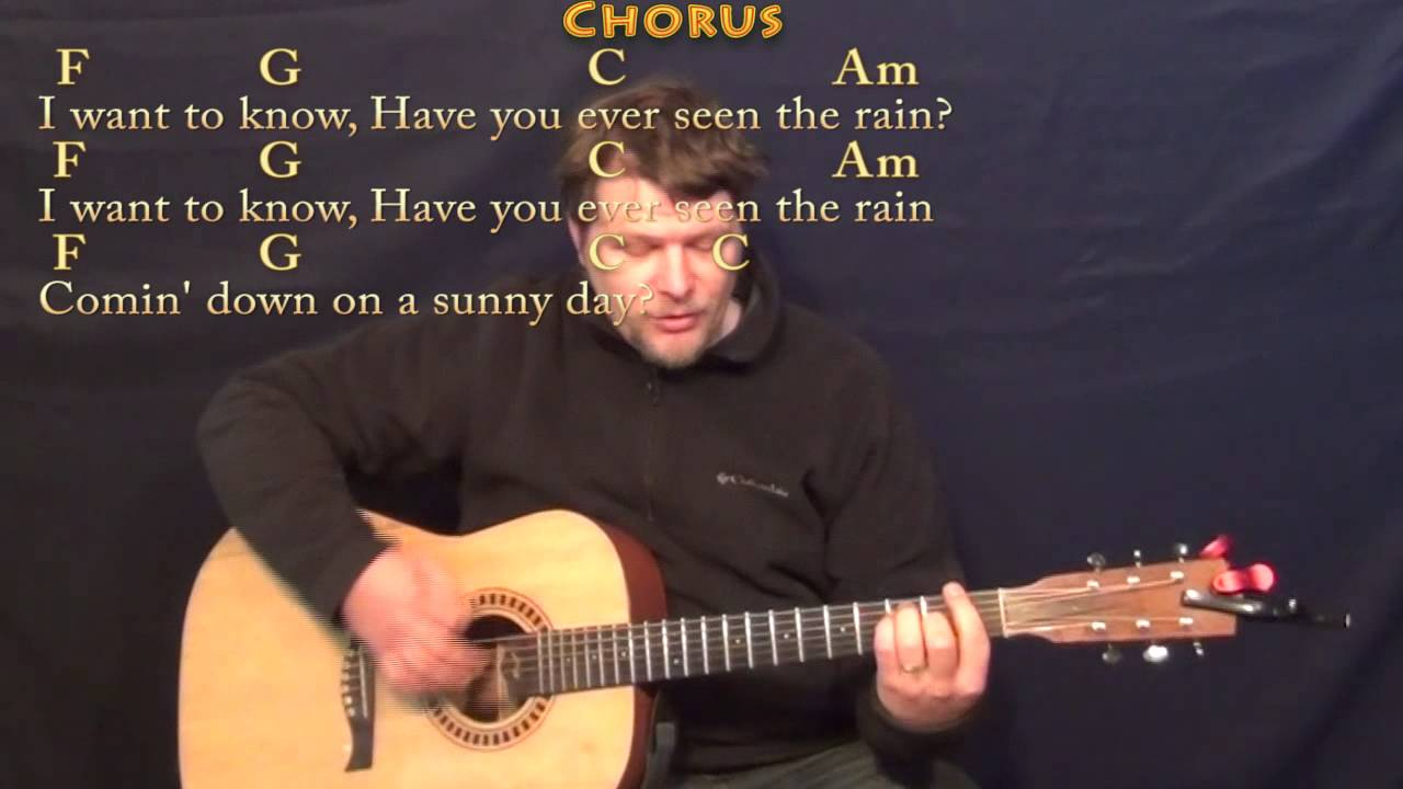 Have You Ever Seen The Rain Chords Have You Ever Seen The Rain Ccr Strum Guitar Cover Lesson With Chordslyrics