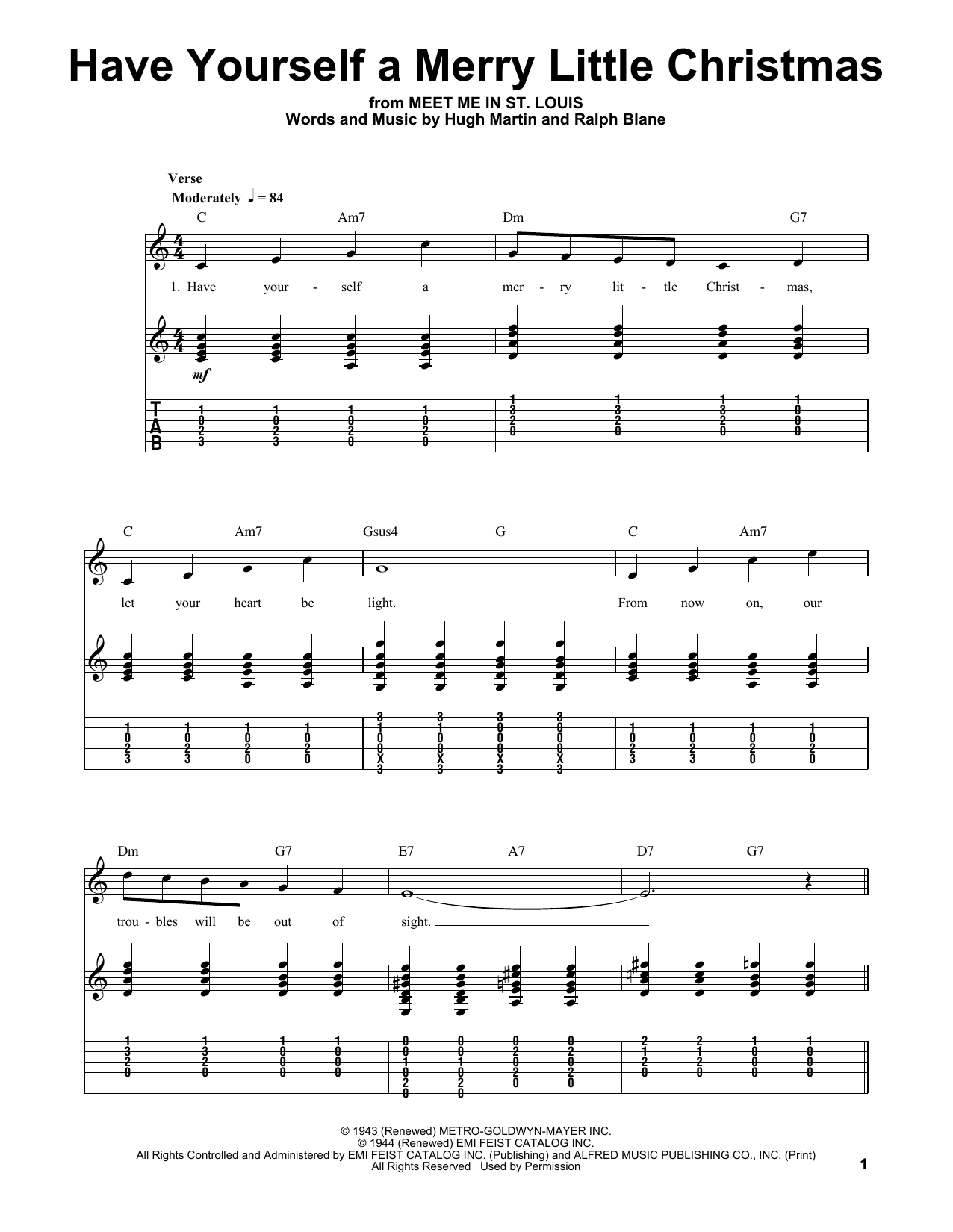 Have Yourself A Merry Little Christmas Chords Joe Nichols Have Yourself A Merry Little Christmas Sheet Music Notes Chords Download Printable Easy Guitar Tab Sku 92631
