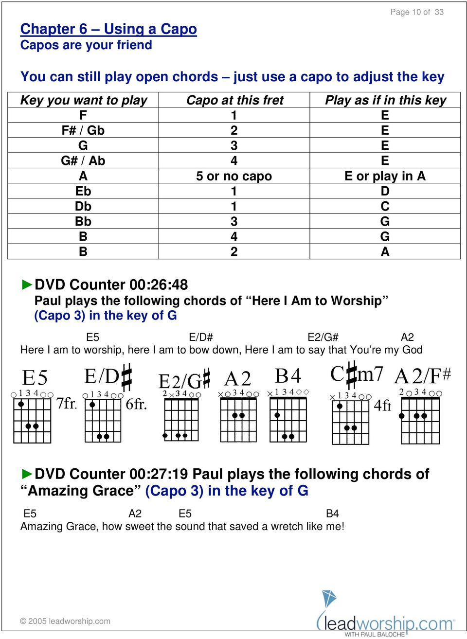 Here I Am To Worship Chords Companion Instruction Booklet Pdf